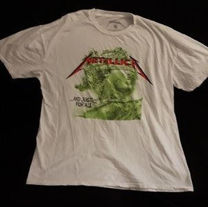 Other - Metallica And Justice For All Statue White T -XXL